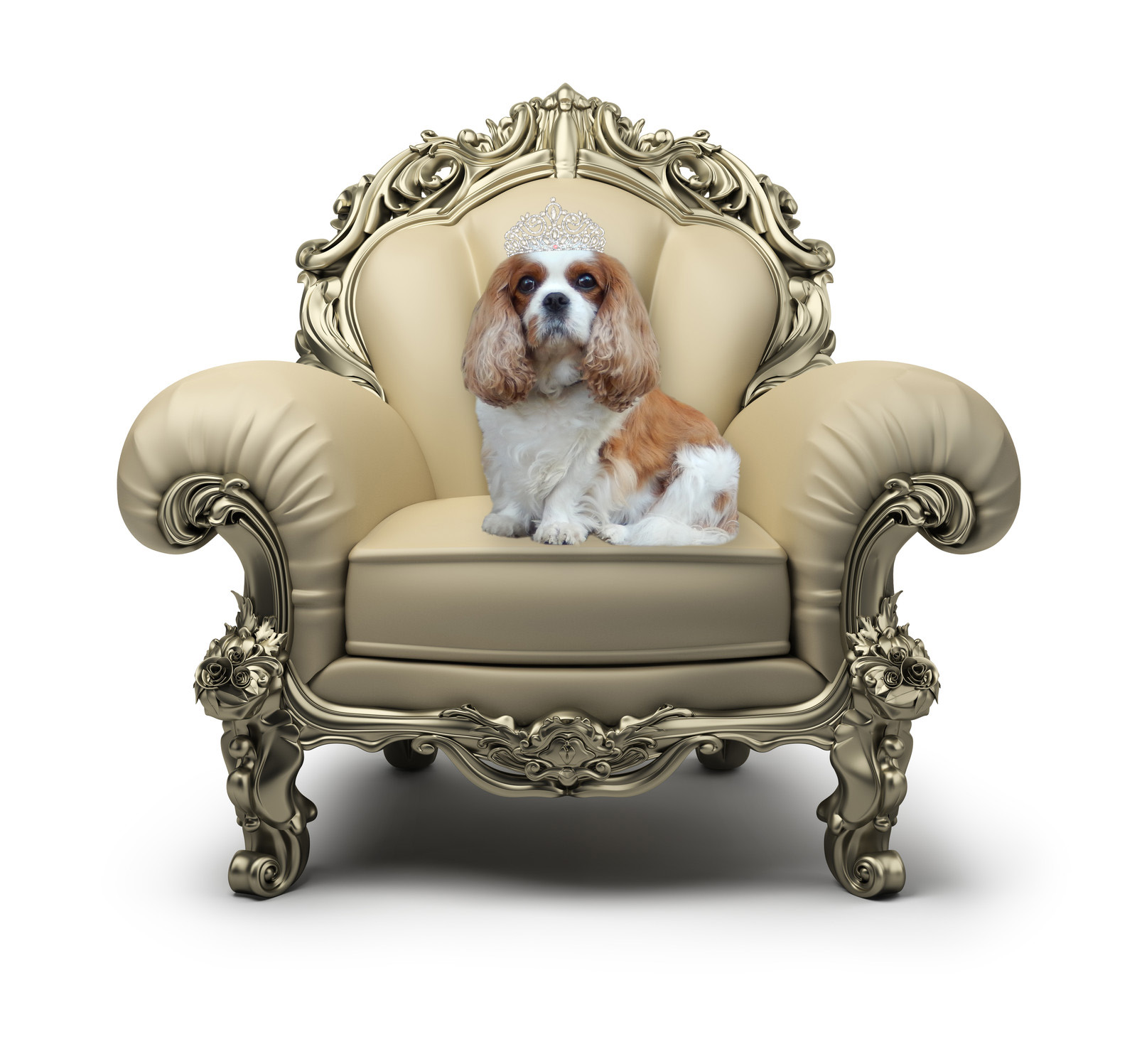 Mary on throne